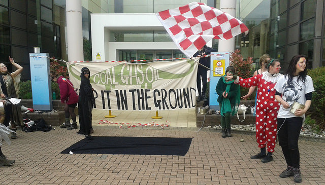 RWE Npower Swindon office blockade
