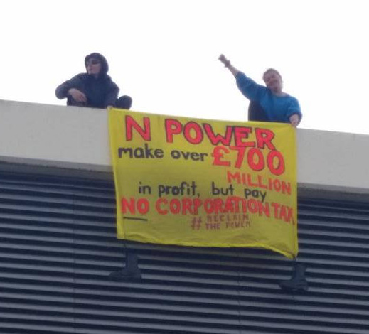 Swindon RWE Npower office blockade 9