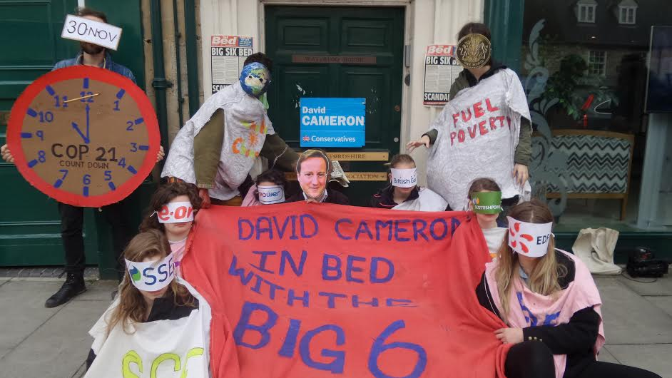 big 6 cameron energy love in outide Camerons office