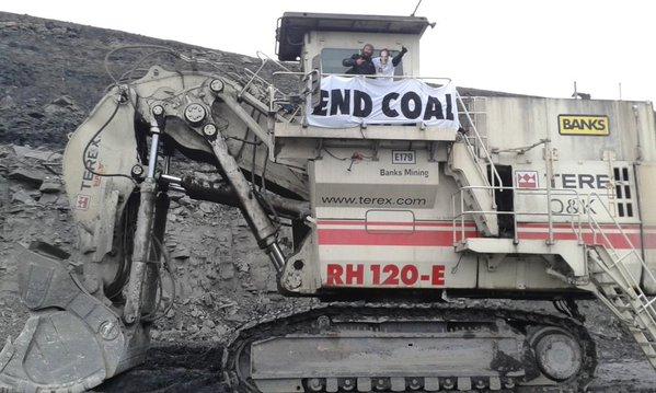 Digger at Matt Ridelys coal mine