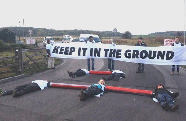 Shotton opencast coal mine blockade Gates 16.1
