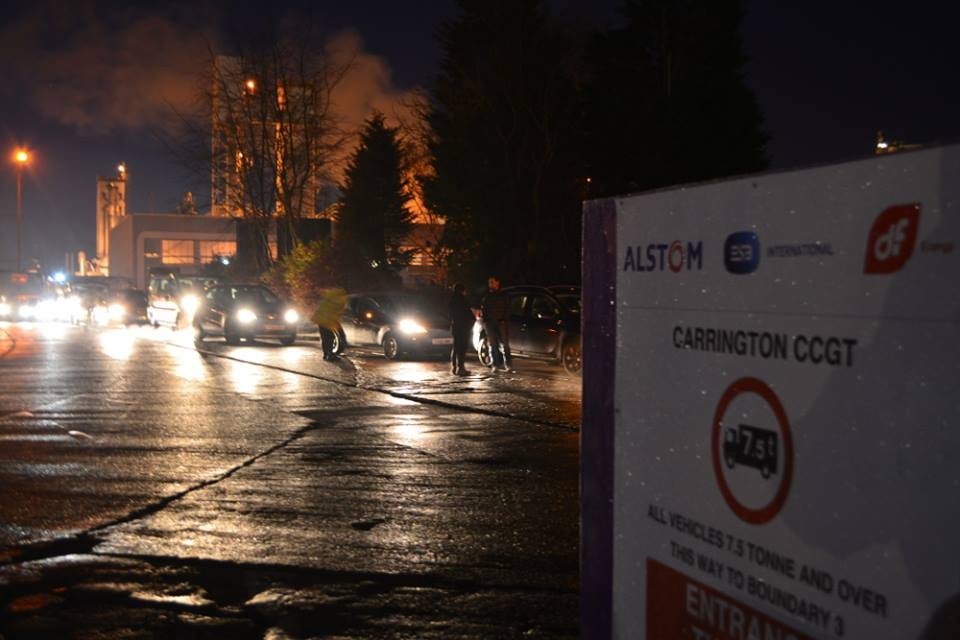 Carrington gas-fired power station blockade 2