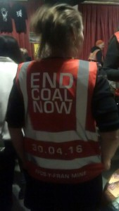 Cycle to End Coal Now jacket