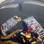 Black Lives Matter protest at London City airport  Hazel Baker  Sky News
