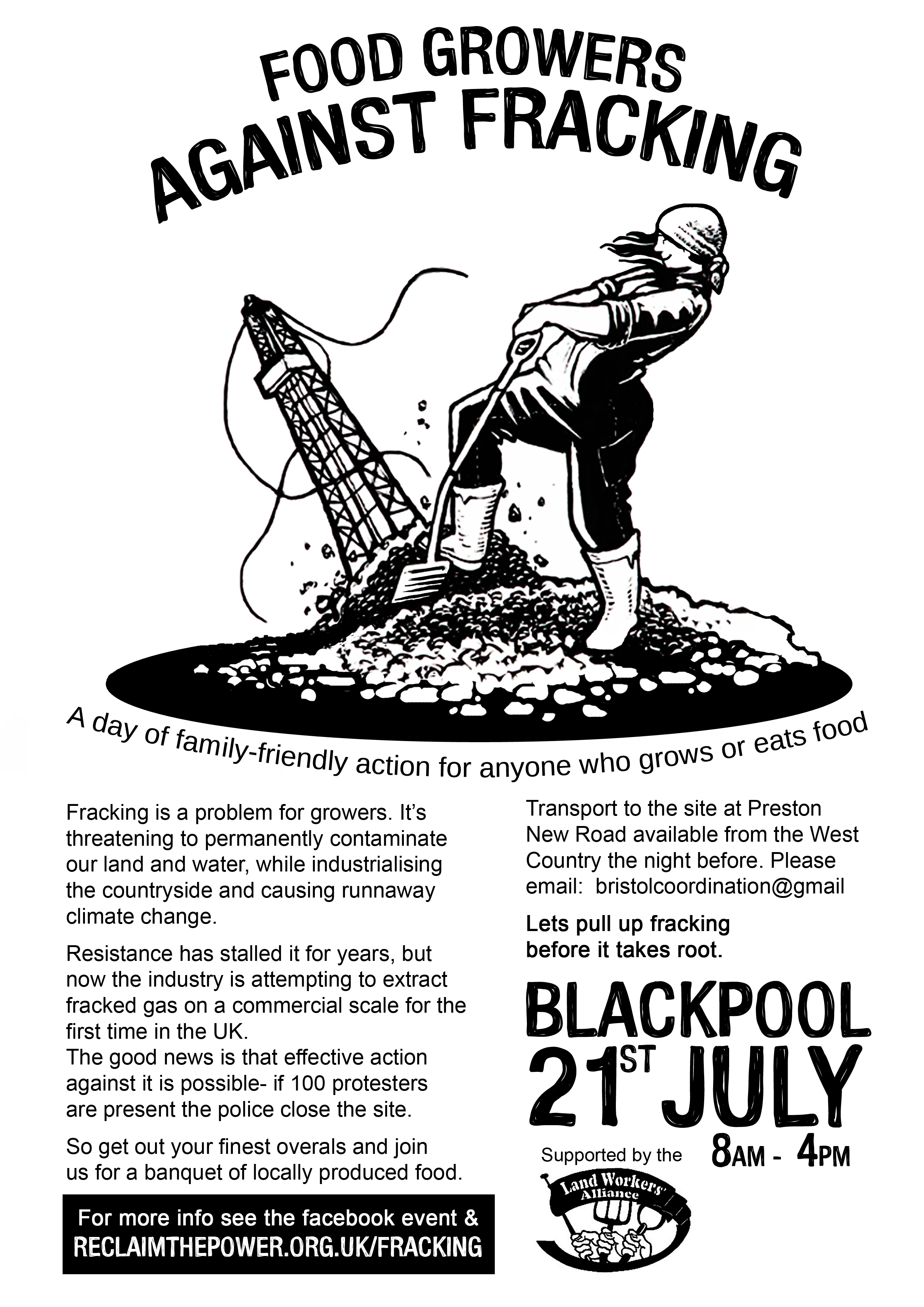 Foodgrowers against fracking flyer