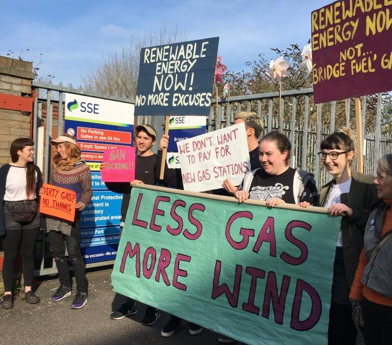 IN PICTURES: Environmental groups take action against fracking and new gas infrastructure across the UK