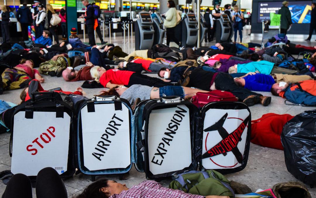 Reclaim the Power stage die in at Heathrow terminal in 2016